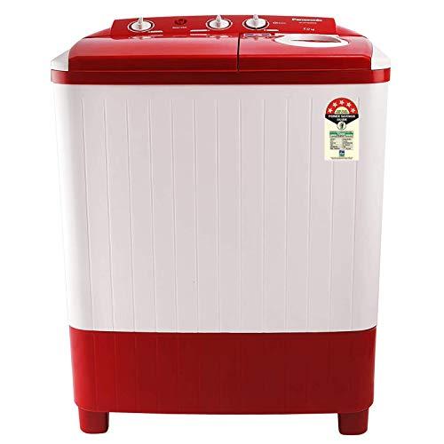 Panasonic 7 kg 5 Star Semi-Automatic Top Loading Washing Machine (NA-W70E5RRB, Red, Powerful Motor)
