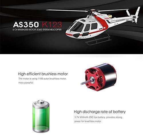 Amyove XK K123 6CH Brushless AS350 Skala 3D6G System RC Hubschrauber RTF Upgrade WLtoys V931 Keine Version mit Fernbedienung