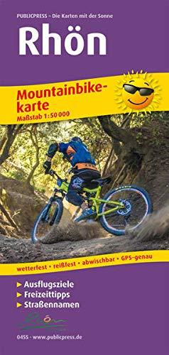 Rhön: Mountainbikekarte mit Ausflugszielen, Einkehr- & Freizeittipps, wetterfest, reissfest, abwischbar, GPS-genau. 1:50000: Mt Ausflugszielen, ... GPS-genau (Mountainbikekarte: MBK)