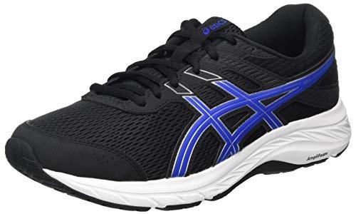 Asics GEL-CONTEND 6, Men's Running Shoes, Black Directoire Blue, 5.5 UK (39.5 EU)