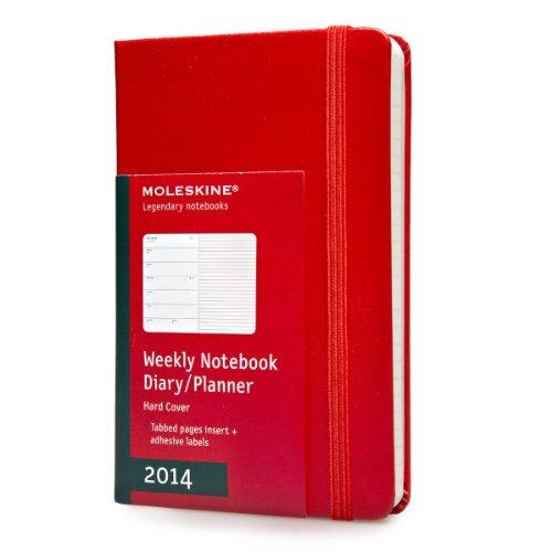 Moleskine Klassischer Wochen-Notizkalender 2014 / Pocket / Fester Einband / Rot (Moleskine Diaries)
