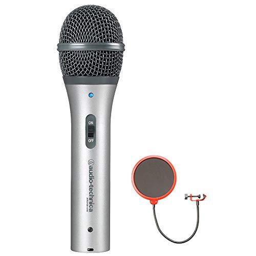 Audio-Technica Cardioid Dynamic USB/XLR Microphone (ATR2100-USB) with Universal Pop Filter...