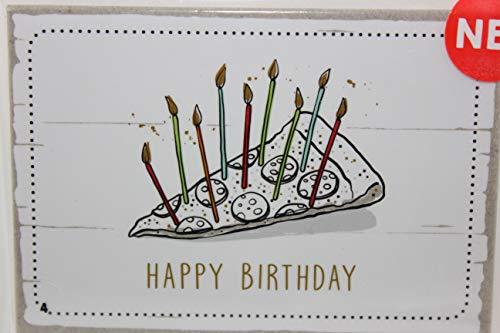 Happy Life Sheepworld, 45703 - Magnet mit Umschlag Nr. 4, Happy Birthday, 5,5cm x 8cm