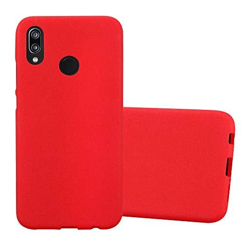 Cadorabo Coque pour Huawei P20 Lite en Frost Rouge - Housse Protection Souple en Silicone TPU avec Anti-Choc et Anti-Rayures - Ultra Slim Fin Gel Case Cover Bumper
