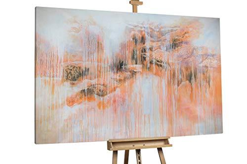 'Sturm der Harmonie' 180x120cm | Abstrakt Orange Weiß XXL | Modernes Kunst Ölbild