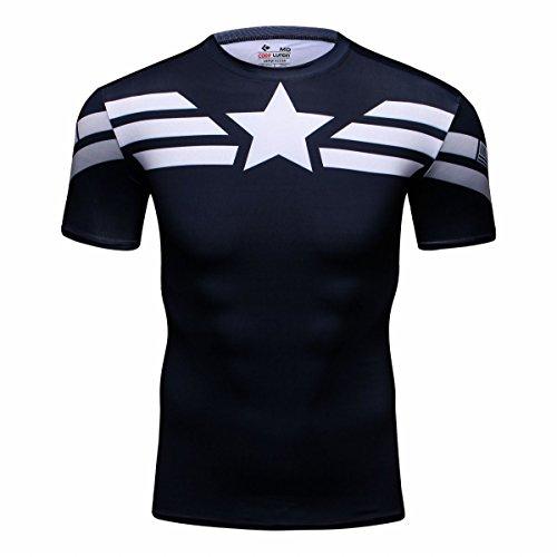 Cody Lundin–Camiseta de manga corta para hombres–Diseño de películas de superhéroes, Captian D
