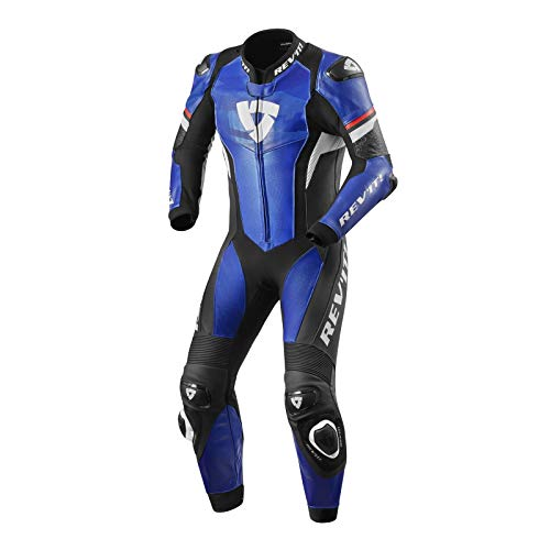 Revit Hyperspeed 1-Teiler Motorrad Lederkombi Schwarz/Blau/Weiß 48