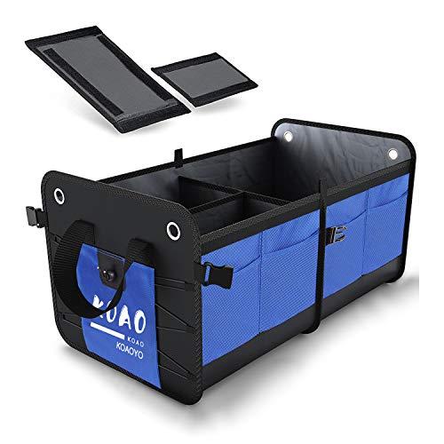 comfitis Car Trunk Organizer for SUV, Truck, Auto,Truck, Minivan.Durable Collapsible Cargo Storage. Waterproof Bottom, Durable Materials Blue
