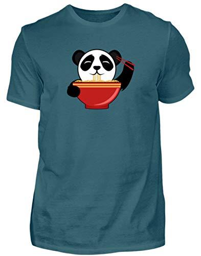 Schattige pandabeer is Chinese pasta met stokjes. Is de kleine niet om te knuffelen? - Herenshirt