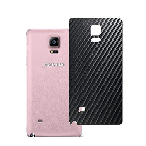 Vaxson 2 Unidades Protector de pantalla Posterior, compatible con Samsung Galaxy Note4 SM-910G Note 4 N910X N910F, Película Protectora Espalda Skin Cover - Fibra de Carbono Negro