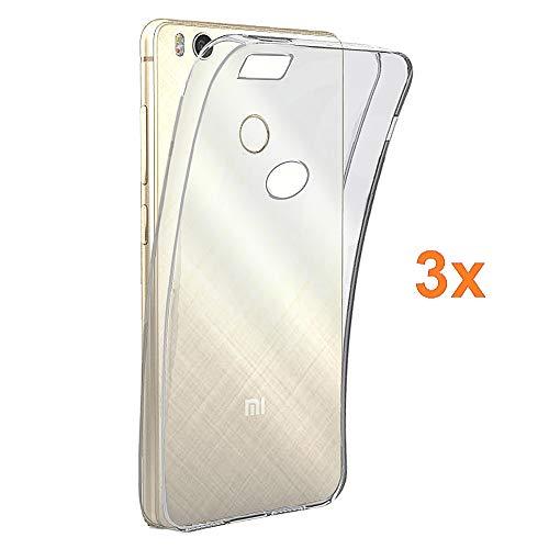REY 3X Funda Carcasa Gel Transparente para XIAOMI Mi4s - MI4 S - Mi 4S, Ultra Fina 0,33mm, Silicona TPU de Alta Resistencia y Flexibilidad