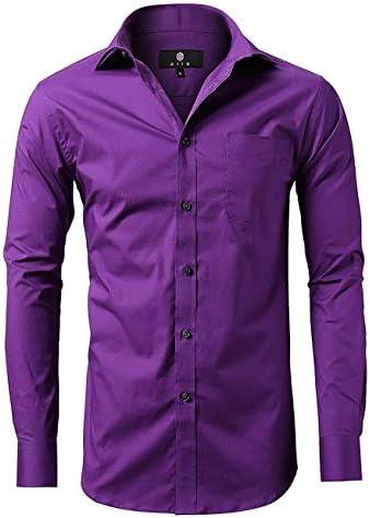 diig Men Slim Fit Long Sleeve Dress Shirt Purple 15 product image