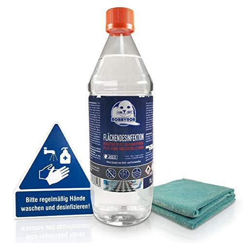 Flächendesinfektion alkoholisch Hygienespray zur Schnelldesinfektion 1 l Flasche