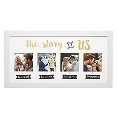 Kate & Milo the Story of Us Photo Frame, White