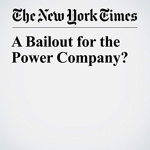 A Bailout for the Power Company? copertina