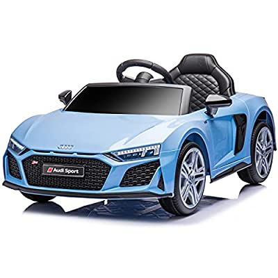 sopbost Ride On Car Compatible with Audi R8 Car for Kids 12V Kids Electric Vehicles Ride On Toys with Remote Control Ride On Sport Car for Boys Girls Age for 3-5 Yrs, Music, Bluetooth, Light Blue from sopbost