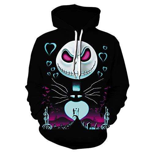 Mr.BaoLong&Miss.GO Autumn and Winter Men Hooded Sweater 3D Digital Printing Hoodie Pullover Sweatshirt Men Loose Trend Sweater