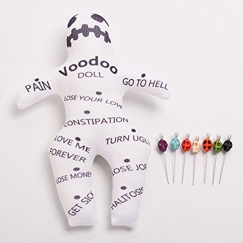 BLESSUME Zauber Voodoo Puppe mit 7 Anders Farbe Schädel Stifte