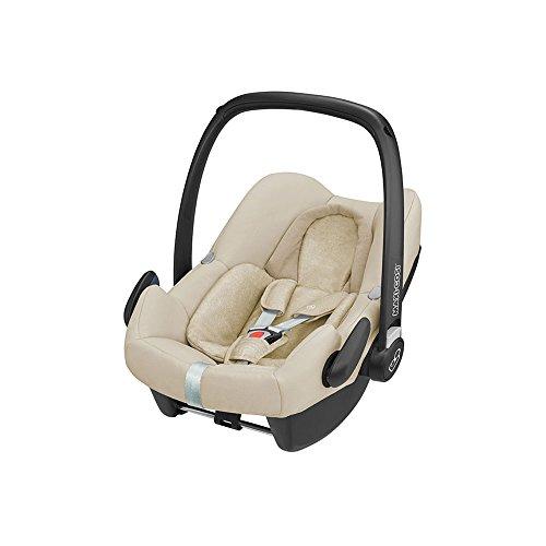Maxi-Cosi Rock Babyschale, sicherer i-Size Kindersitz, Gruppe 0+ (0-13 kg), nutzbar ab der Geburt bis 12 Monate, nomad sand