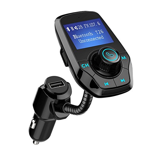 VICTSING Manos Libres Bluetooth Coche Transmisor FM, Radio Musica Receptor Altavoz Bluetooth...