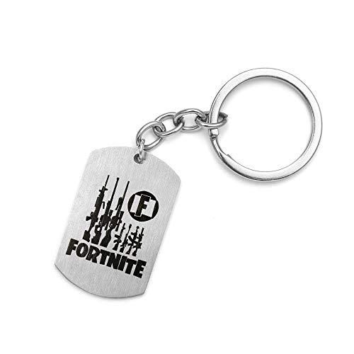 Catena delle chiavi, collana di tag, materiale in acciaio inossidabile, varie funzioni, bel regalo piccolo aspetto, Key chain tipo F, 2.5 * 4 * 0.15 fold