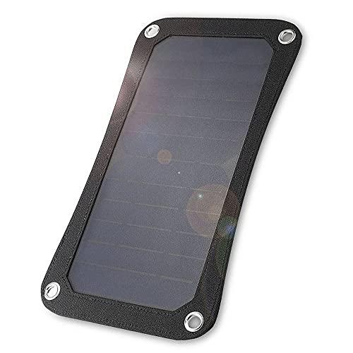 LOKOER Bolsa de Carga de batería de energía Solar portátil de Panel Solar de 20W 5V con Placa de Carga de Puerto USB Dual para Acampar y Caminar