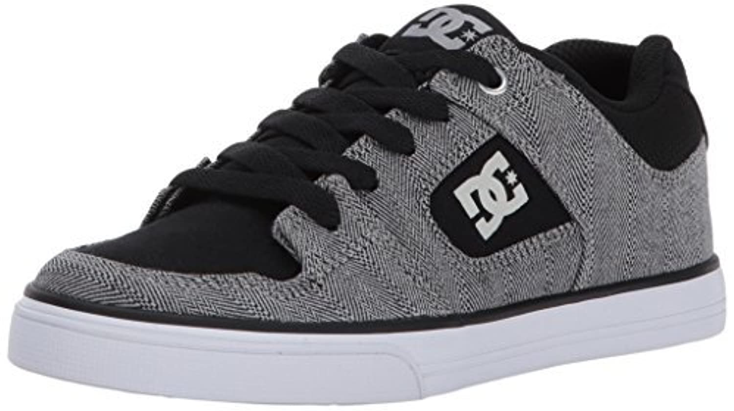 DC Men's Pure TX SE Skate Shoe Black/Grey/Black 5.5 M US Big Kid [並行輸入品]