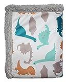Dinosaur Baby Blanket Fleece Boys Bear Fleece Baby Blanket Plush for Girls Minky Baby Blanket Sherpa Unisex 30 40'