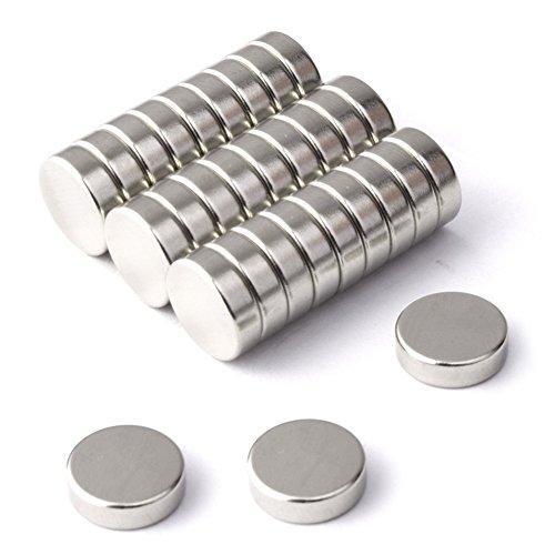 BTLIN ネオジム磁石 小さい 丸型 多用途 マグネット 事務所、科学、工芸に最適 8x2mm 60個 シルバー