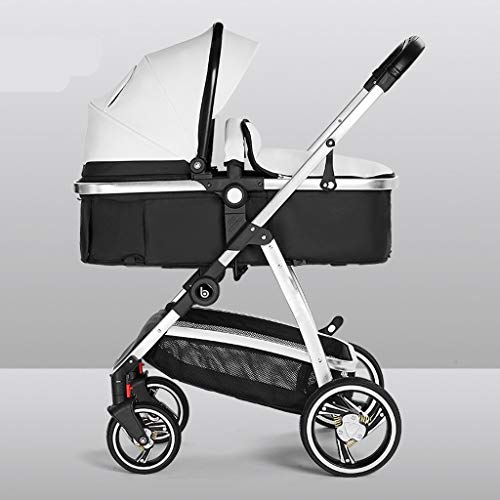 Why Choose TXTC Leather Pram Stroller with Aluminum, Anti-Shock High View Baby Stroller Foldable, 5-...