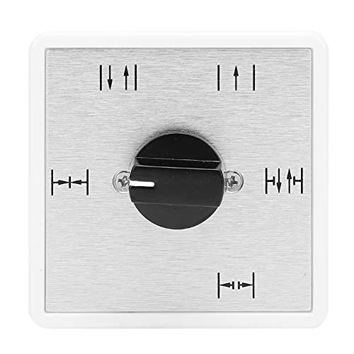 FECAMOS Interruptor de Puerta, Interruptor automático de Perilla de 5 Posiciones, Larga Vida útil, Resistente a la Intemperie para Todas Las Puertas automáticas para la Seguridad del hogar