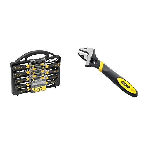Stanley - STANLEY Screwdriver Set 34 pcs - STHT0-62141 & 090947 6in MaxSteel Adjustable Wrench