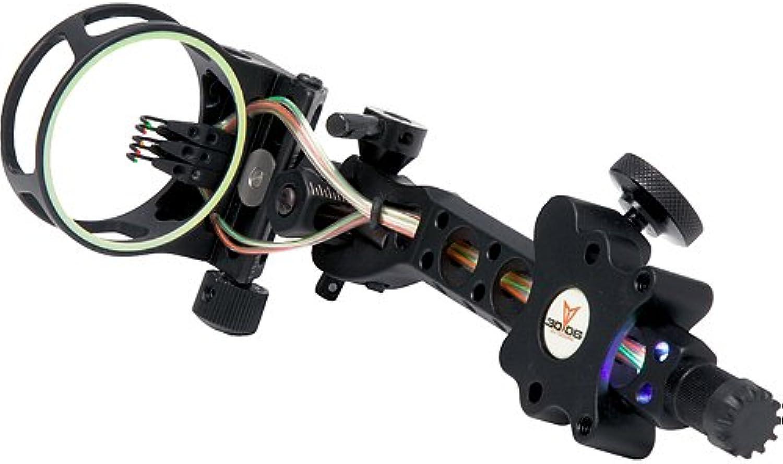3006 Outdoors KP Aluma 5 Pin Dovetail Precision Adjust Sight with .019Light 5 Pin, Black