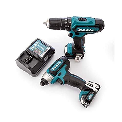 Makita CLX202AJ 12V Max Li-ion CXT 2 Piece Kit Complete with 2 x 2.0 Ah Li-ion Batteries and Charger Supplied in a Makpac Case
