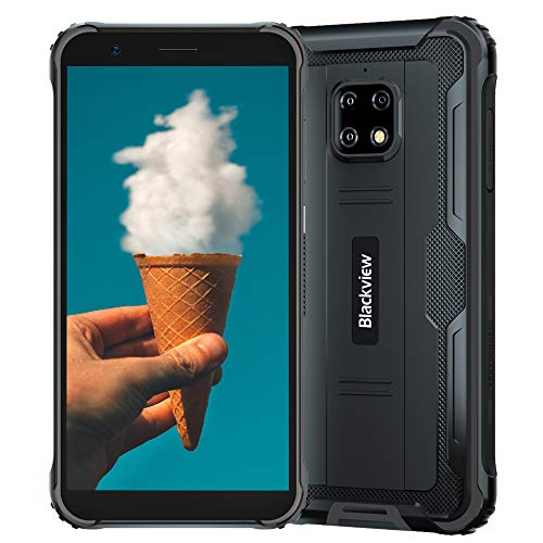 """Rugged Smartphone Blackview BV4900 Pro 4GB + 64GB Octa-core Android 10 Rugged Phone Unlocked, 13MP + 5MP Camera 5.7"""" HD+ Screen 5580mAh Battery Dual SIM 4G Rugged Cell Phone Unlocked for USA"""