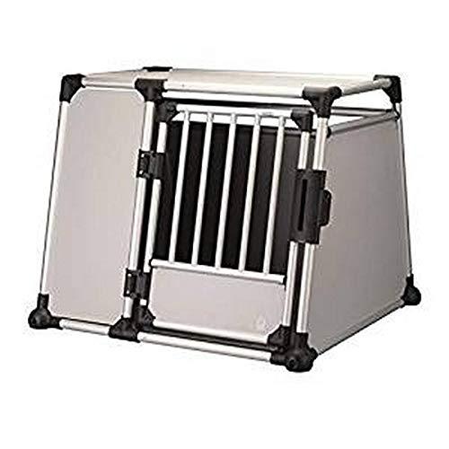 Trixie 39344 Transportbox, Aluminium, L–XL: 94 × 75 × 88 cm, silber/hellgrau