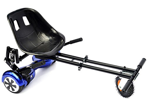 """Suspension Cool Mini Kart Hoverboard Accessories for 6.5' 8' 10""""-All Ages-Two Wheels Self Balancing Scooter,(Not Included Balance Board) (Black)"""