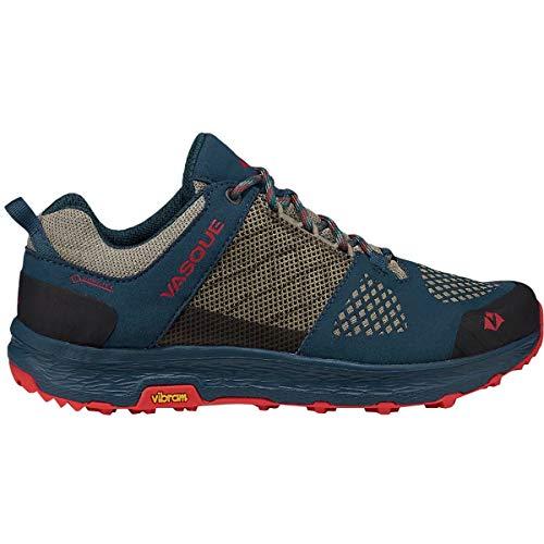 Vasque Womens Breeze LT Low GTX Gore-Tex Waterproof Breathable Hiking Shoe, Blue/Red, 8