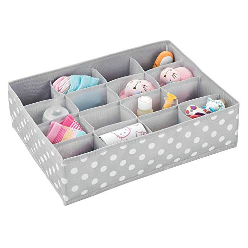 mDesign Drawer Insert – Veelzijdige ladekast voor het opbergen van sokken, accessoires, ondergoed en meer – Ideaal voor kinderdagverblijven of slaapkamerorganisatie