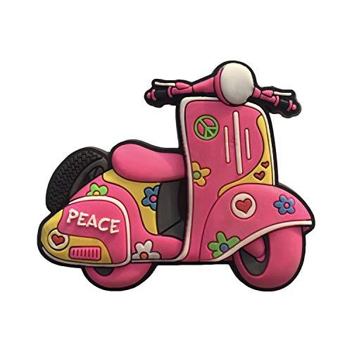 Wedare Magnet Souvenir Ibiza España Imán 3D para refrigerador de Scooter de PVC, Recuerdo de Viaje, Hecho a Mano, decoración para el hogar y la Cocina, Regalo de la colección Ibiza