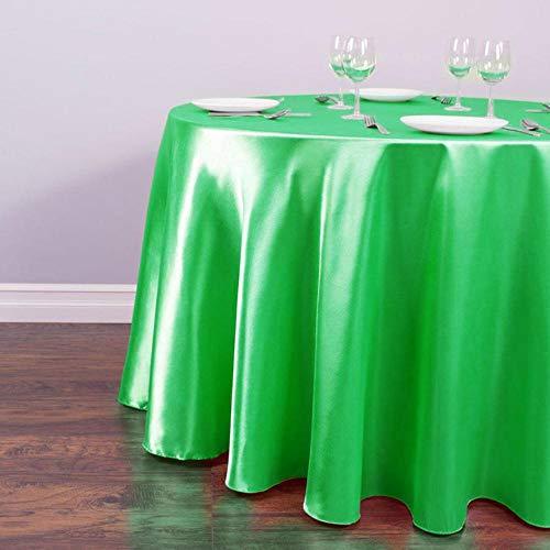 EDCV-tafelkleed-decors voor thuisevenementen Feesthotelbenodigdheden Wit satijnRond tafelkleed Tafelkleed Groothandel voor kerstfeest, groen