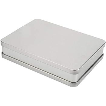 SUPVOX latas vacías de Metal Caja de Lata Rectangular contenedores de hojalata Vintage Caja de hojalata Reutilizable para joyería de té Vela DIY Regalos de Fiesta de Bodas: Amazon.es: Joyería