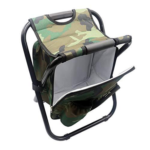 Facibom portátil camping plegable mochila silla doble Oxford tela refrigerada bolsa camuflaje pesca silla