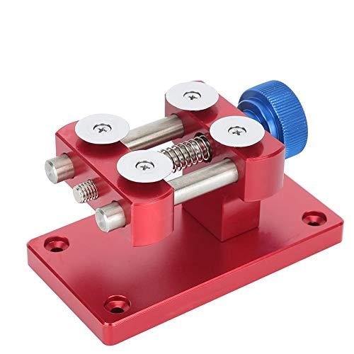 Qiterr Uhrreparatursatz, Professionelles rotes Uhröffner-Werkzeug zum Entfernen der Werkbank Gehäuseöffner-Uhrreparaturwerkzeug