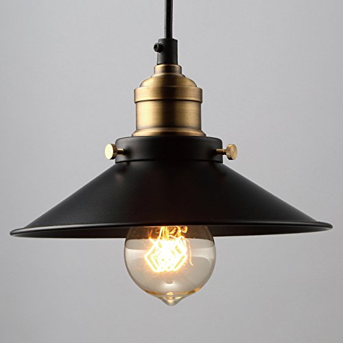 Modern Vintage Industrial Metal Ceiling Light Black Shade Pendant