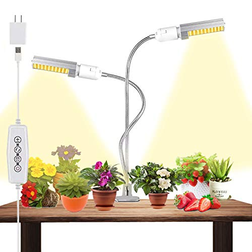 Lámpara de Planta,Led Grow Light,Mejora la luz de crecimiento con temporizador de encendido/apagado automático 3/6/12 h para Jardinería Bonsai