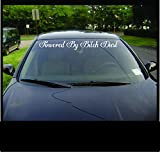 Powered by Bitch Window Banner Decal Sticker Girly Funny Car Diesel Truck 1500