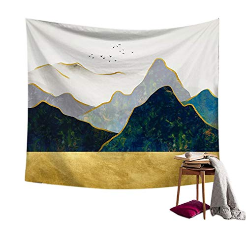 xinmeng Kunst-Tapisserie-Wand hängen Polyester Landschaft Muster Decke Tapisserie Wohnkultur (Color : B)