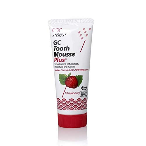 GC Tooth Mousse Plus Sugar Free With Extra Milk Protein For Teeth Strawberry Flavor