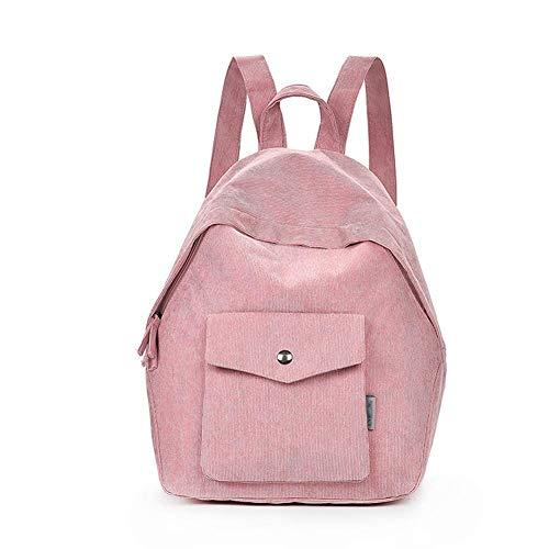 YIXIA Mochila, mochila de pana para estudiantes, para hombre y mujer, mochila para ordenador de viaje, antirrobo e impermeable, mochila ultradelgada